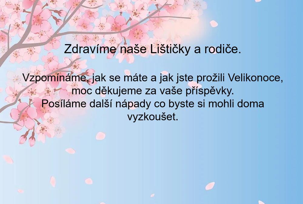 Květnový pozdrav Lištičkám
