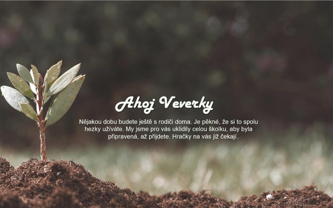 Květnový pozdrav Veverkám